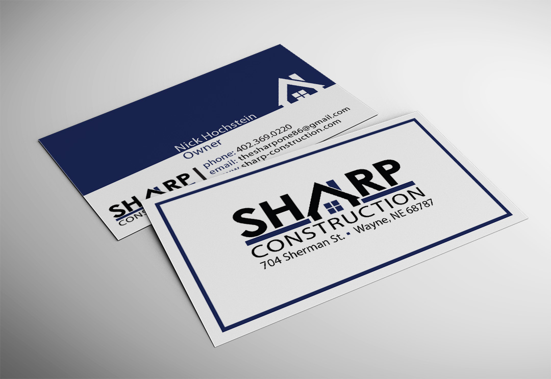 Sharp Construction Business Card - Accounting Plus of Wayne ...