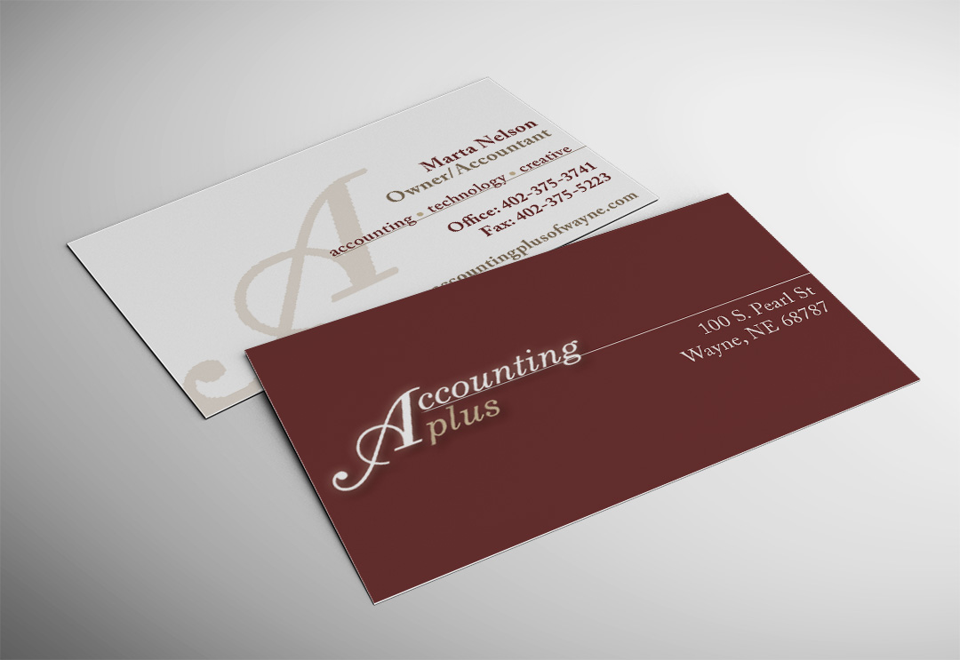 Accounting Plus Business Card - Accounting Plus of Wayne, Nebraska ...
