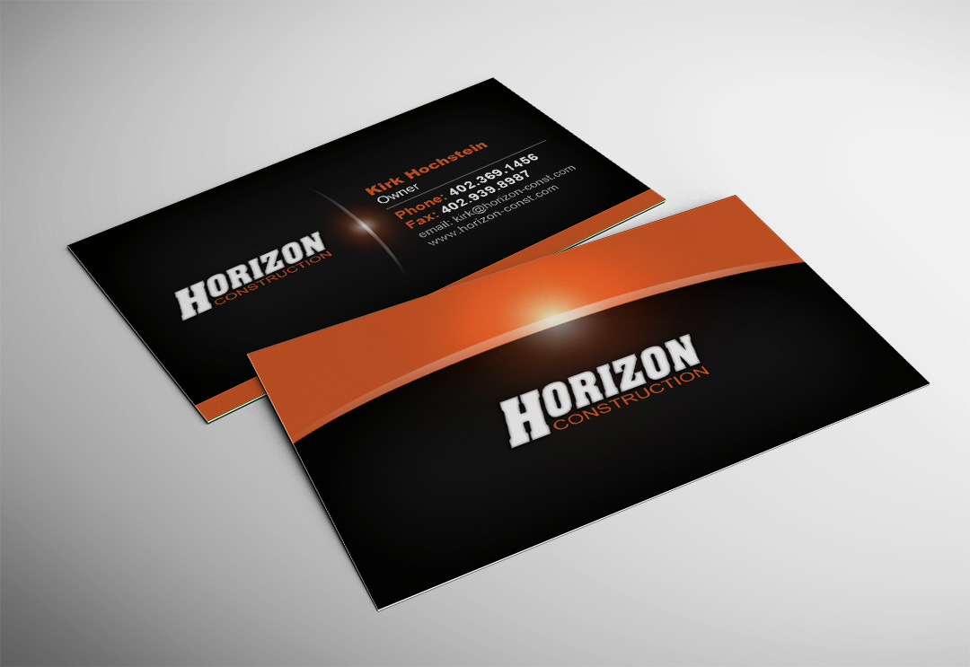 Horizon Construction Business Card - Accounting Plus of Wayne ...
