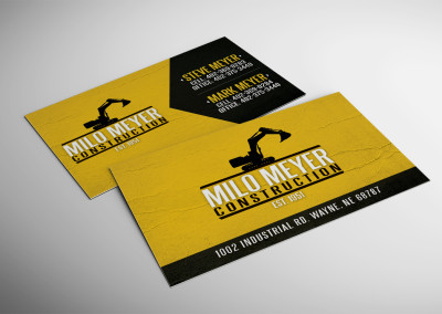 Milo Meyer Construction Business Card