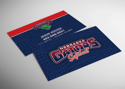 Nebraska Gators Business Card