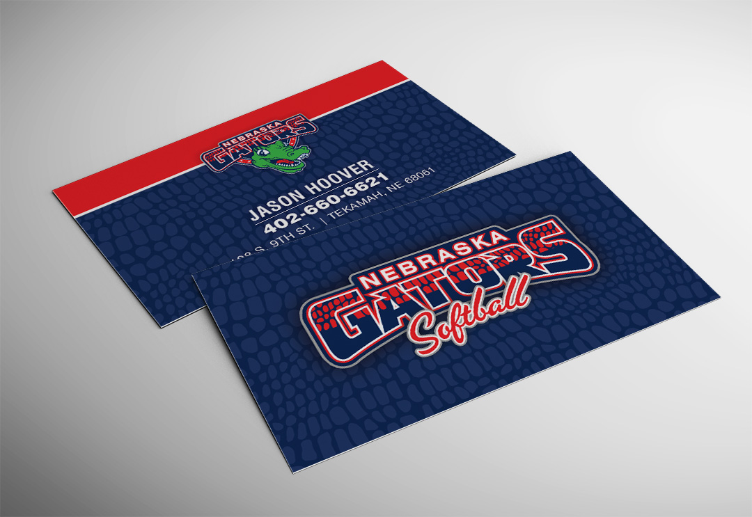 Nebraska Gators Business Card - Accounting Plus of Wayne, Nebraska ...